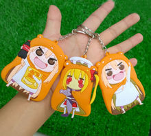 40 pcs/lot Himouto umaru-chan anime girl figure pendants Doma Umaru cosplay keychains 4 styles free shipping(China)