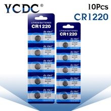 CR1220 BR1220 ECR1220 LM1220 3V 210mAh Lithium Button Coin battery in 10pcs retailing package for watch ,toy(China)