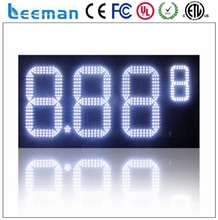 leeman digital number control system card USA LED Gas Price Changer led fuel price sign led digital gas price sign with RF