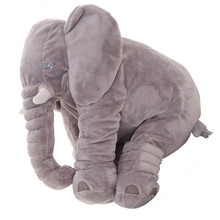 1pc 60cm Fashion Baby Animal Elephant Style Doll Stuffed Elephant Plush Pillow Kids Toy Children Room Bed Decoration Toys Home(China)