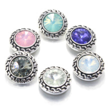 7 colors 18mm metal snap button for bracelet &bangle watches women crystal charm bracelet Jewelry 060105(China)