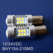 High quality 10W 12V/24VDC BAY15d,1157,P21/5W,PY21/5W Freight Car,Truck,Auto Led Stoplight,Brake light free shipping 10pcs/lot