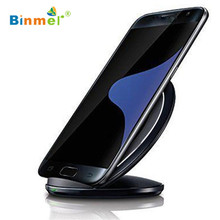 Hot-sale BINMER Smartphone 3-Coils Qi Wireless Charger Charging Stand Dock For Samsung Galaxy S7 / S7 Edge Gifts Wholesale