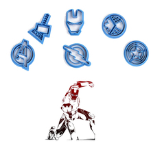 New!Hot style Super hero series The avengers alliance sugar cookie cutter mold 6 PCS/set