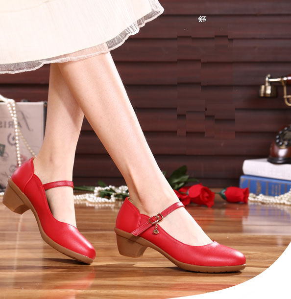 fashion female dance shoes red women low heel office ladies work shoes marry janes shoes <br><br>Aliexpress