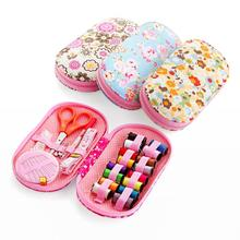 Home Sewing Tools Set Portable Camping Sewing Kits Box Needle Threads Scissor Thimble For Kids Girls Adults Sew Supplies 15