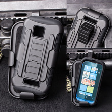 Future Armor Impact Holster Rugged Hybrid Hard Cover Stand Case For Nokia Lumia 610 N610 Cell Phone Cases