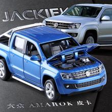 High quality high simulation 1:30 alloy pull back car,amarok Pickup,metal model cars toy,free shipping