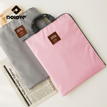 DOLOVE 2017 Women Bags Korea Elegant Zipper Versatile A4 File Bag IPad Bags Temperament Oxford Cloth Briefcase Bag