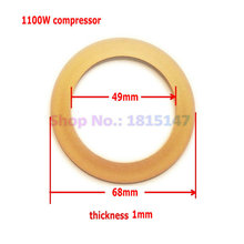 2pcs, Piston rings 68*49*1 Oilfree air compressor spare parts, tyflon ring for breathing machine