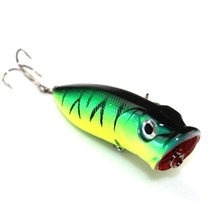 1PCS Fishing Lures 5 colors Popper Lure 6.5cm 13g fishing bait 6# high carbon steel hook fishing tackle
