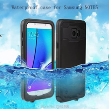 Waterproof Case for Samsung Galaxy s5 s6 s7 edge note 5 plus Shockproof Phone Back Cover 360 Full Protection Outdoors Sport Ski(China)