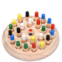 Free shipping Montessori Kids Toy Baby Wooden Memory Developing Compete Chess Learning Educational Preschool training chess(China)