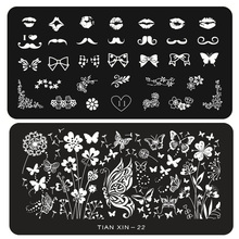 1pcs New Stylish Nail Art Stamping Image Plates DIY Polish Printing Stencil Manicure Nail Mould Template