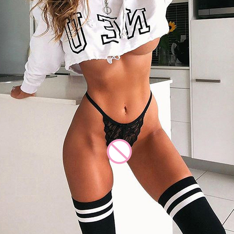 Nylon Lingerie Sexy Underwear Open Butt Sissy Panties String Homme