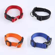 Reflective Dog Collar Adjustable Pet dog Collars Nylon Durable dogs neck collar pet puppy necklace for Small Medium Large Breeds(China)