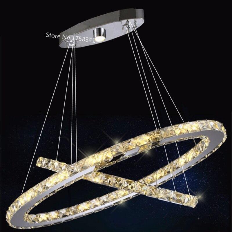 restaurant lamps lighting Oval LED crystal chandelier modern minimalist bedroom creative personality living room lights<br><br>Aliexpress
