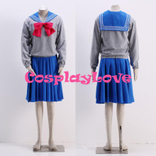 High Quality Stock Japanese Anime Sailor Moon Serena Tsukino Usagi Tsukino School Uniform Cosplay Costume For Halloween