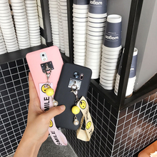 Japan and South Korea Simple Smile Grip Strap Case for Samsung s8 Plus/ s7edge / s6 Edge Cartoon Mobile Phone Soft Silicon Cover