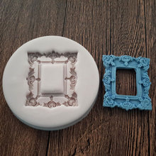 Rectangle Vintage Frame Mold Silicone Cake Fondant Resin Clay Craft Soap Mould Sugarcraft Tools MF208