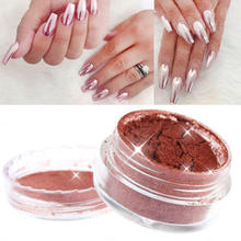 2g Rose Gold Mirror Chrome Effect Nail Glitter Powder Dust Shining Glitters DIY Nail Art Decoration