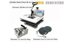 4 in 1 Combo sublimation transfer printing Machine LY-034 free shipping