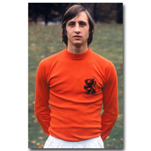 NICOLESHENTING Johan Cruyff Football Legend Art Silk Poster Print 13x20 inches  Netherlands Soccer Star Pictures Room Decor 004