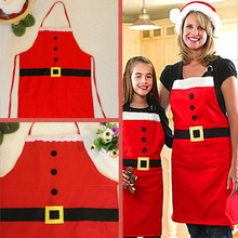 Christmas Decoration Apron Kitchen Aprons Christmas Dinner Party Apron Santa Christmas Kitchen Apron(China)