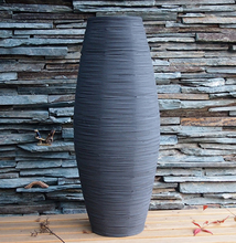 Christmas Large Bamboo Floor Vase Big Living Room Decorative Floor Vase Home Art & Craft Flower Pot Woven Retro Antique Finish(China)