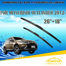 "Wiper Blades For MITSUBISHI OUTLANDER (2012- ) 2013 2014 2015 Car Windscreen Wiper Windshield Wiper Blade 26""+18"" Cars styling"