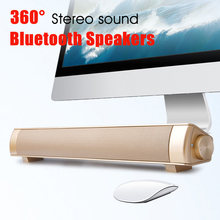 New Bluetooth Speaker Soundbar Slim Magnetic Stereo Sound Subwoofer Speaker Wireless mini Computer PC Tablet Mobile phone(China)