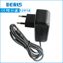 BERLS switching ac dc 12v 1a power adapter supply for router with dc connector 5.5*2.5/5.5*2.1mm