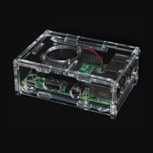 NEW Small 5V Computer Cooler Cooling Fan PC Heat Sink with Mini Clear Case Shell Enclosure Box & Aluminum Heatsink & Cooling Fan