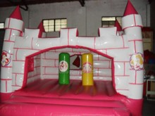 pink PVC inflatable castle bounce house inflatable jumping house bouncer for amusement park(China)