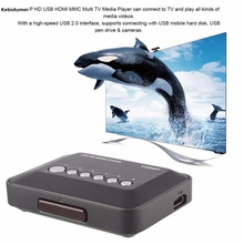 Kebidumei USB HDMI Multi TV Nieuwe Collectie Media Videos Player Box TV videos High-speed USB 2.0 1080P(China)