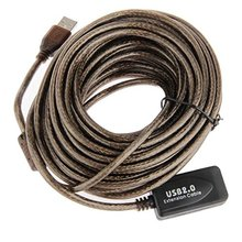 10M USB 2.0 Extension Active/ Repeater 480 Mbp Active USB Extension Cable(China)