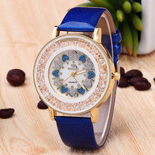 2017 New Fashion Quicksand Crystal Ball Luxury Brand Watch Women Diamond Leather Watches RINNADY Montre Femme Marque De Luxe
