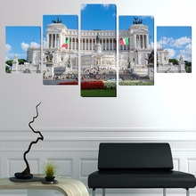 Unframed  Rome, Italy City Monuments 5 piece  Wall ing  Art Picture Paint on Canvas  home decor  paintings for living roomPaint