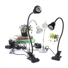 220V LED Reading Eye Protection Study Desk Lamp With Clip Base Brightness Table Lamp