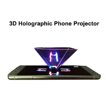 3D holographic phone projector displayer 3d screen(China)