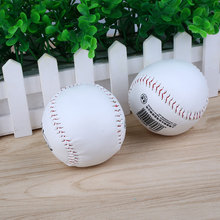 2Pcs Trainning BaseBall Softball Practice Base Ball Soft Leather White Activity