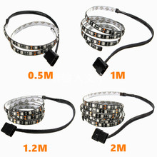 Hot Sale 50/100/120/200cm 5050 LED Waterproof Flexible Strip Background Light PC Computer Case Adhesive Strip Light DC12V(China)
