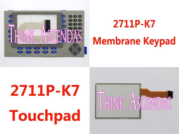 5pcs New PanelView Plus 700 2711P-K7 2711P-K7C4A1 2711P-K7C4A2 2711P-K7C4A6 2711P-K7C4A8 Membrane Keypad / Touchpad<br>