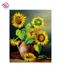 ANGEL'S HAND full drill diamond painting pattern sunflower cross stitch embroidery paintings 5d full diamond  picture