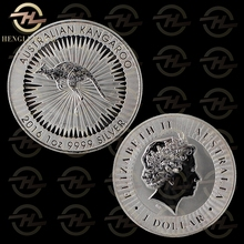 100pcs /lot FAST DELIVERY <4-8 Days> 2016 1 Troy Oz .999 Silver Coin $1 One Dollar Australia Silver Kangaroo Coins