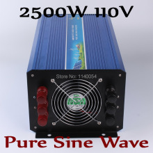 2500W Pure sine wave off grid inverter,  Solar wind inverter 2500W 110V DC to AC 100V/110V/ 220V/230V/240V with Peak power 5000W