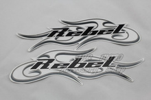 Freeshipping High Quality Motorcycle 3M Tank Emblem REBEL Decals Stickers Graphics Set Transfers For Honda Harley-Davidson