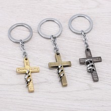 Anime Jewelry Death Note Keychain for Men   Women 2016 New Arrived Crucifix Model Zinc Alloy Key ring Holder porte clef Chaveiro