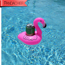 2017 New 1Pcs/Lot Mini Cute Pink Flamingo Floating Inflatable Drink Can Holder Pool Bath Toy Pool Swim Ring Water Fun Pool Toys