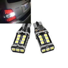 2x 921 912 906 T15 Super Bright 800 Lumens 6000K Xenon White High Power 2835 15-SMD LED Lights Bulbs for Back Up Reverse Light